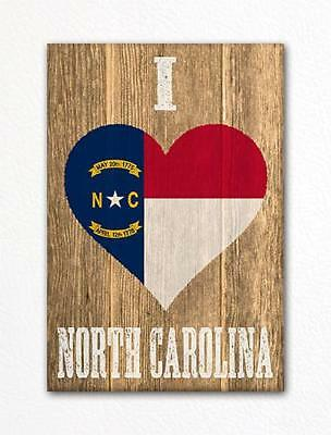 I Heart North Carolina Magnet It/'s Where I Call Home 3x8 inch Decal for Car