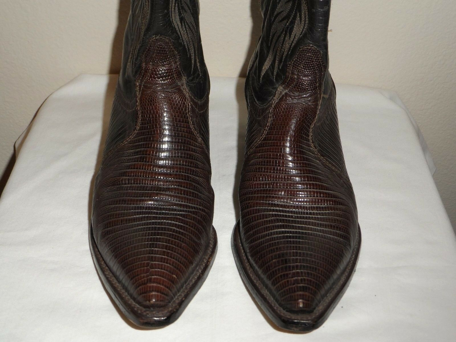 Tony Lama Womens Brown Snake Leather Western Cowboy Boot - Size 6.5M