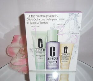 Clinique-3-Step-Skin-Care-System-Type-2-Dry-Combination-Skin-3pc-Kit-Soap-Lotion