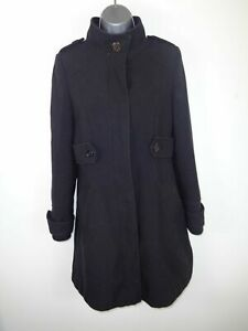 WOMENS-WALLIS-BLACK-BUTTON-UP-SINGLE-BREASTED-SMART-WINTER-COAT-JACKET-UK-SIZE-8