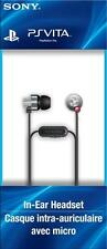 100% OFFICIAL NEW SONY PS VITA IN-EAR HEADSET EARBUD HEADPHONE w MIC PLAYSTATION