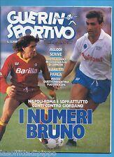 GUERIN SPORTIVO-1987 n.11- CONTI/GIORDANO-NIZZOLA-EUROGOL TUTTOCOPPE -NO FILM