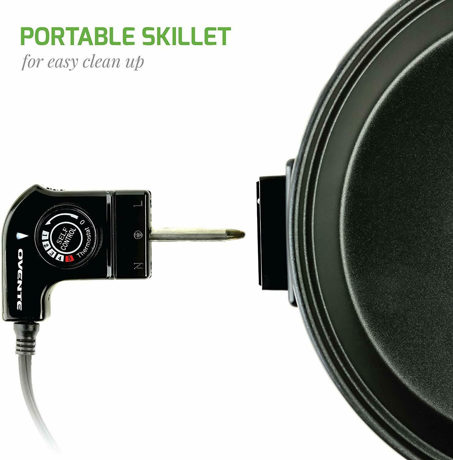 efluky Electric Skillet with Non-stick Coated Aluminium Pan GD-5027
