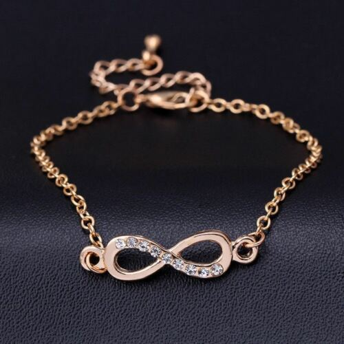 Crystal Infinity 8 Bracelet Bracelet Bangle Hand Chain Jewelry