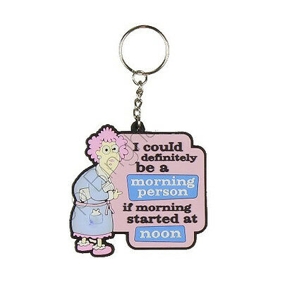 AUNTY ACID 3D RUBBER KEYRING FUNNY QUOTE GIFT CHAIN KEY RING NEW FACEBOOK HUMOUR