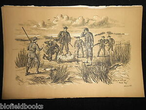 Antiquarian-Sporting-Print-Highland-Hunting-Shooting-Fore-039-s-Notes-Sport-c1886