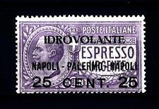 """ITALIA - Regno - PA - 1917 - Espresso urgente non emesso """"IDROVOLANTE"""" NAPOLI"""