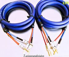 Van Damme Blue Series Studio 2x 6.0mm Twin Axial Speaker Cable 2x1.5m Terminated