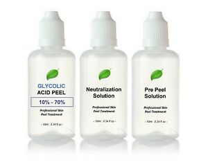 Glycolic Acid AHA Skin Peel - Acne Treatment - 30ml Kit BUY 2 GET 3