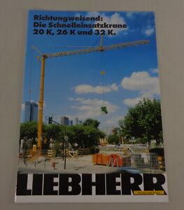 Brochure Liebherr Die Schnelleinsatzkrane 20 K,26 K And 32 K. From 01/1993