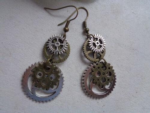 Ohrringe Steampunk Zahnräder