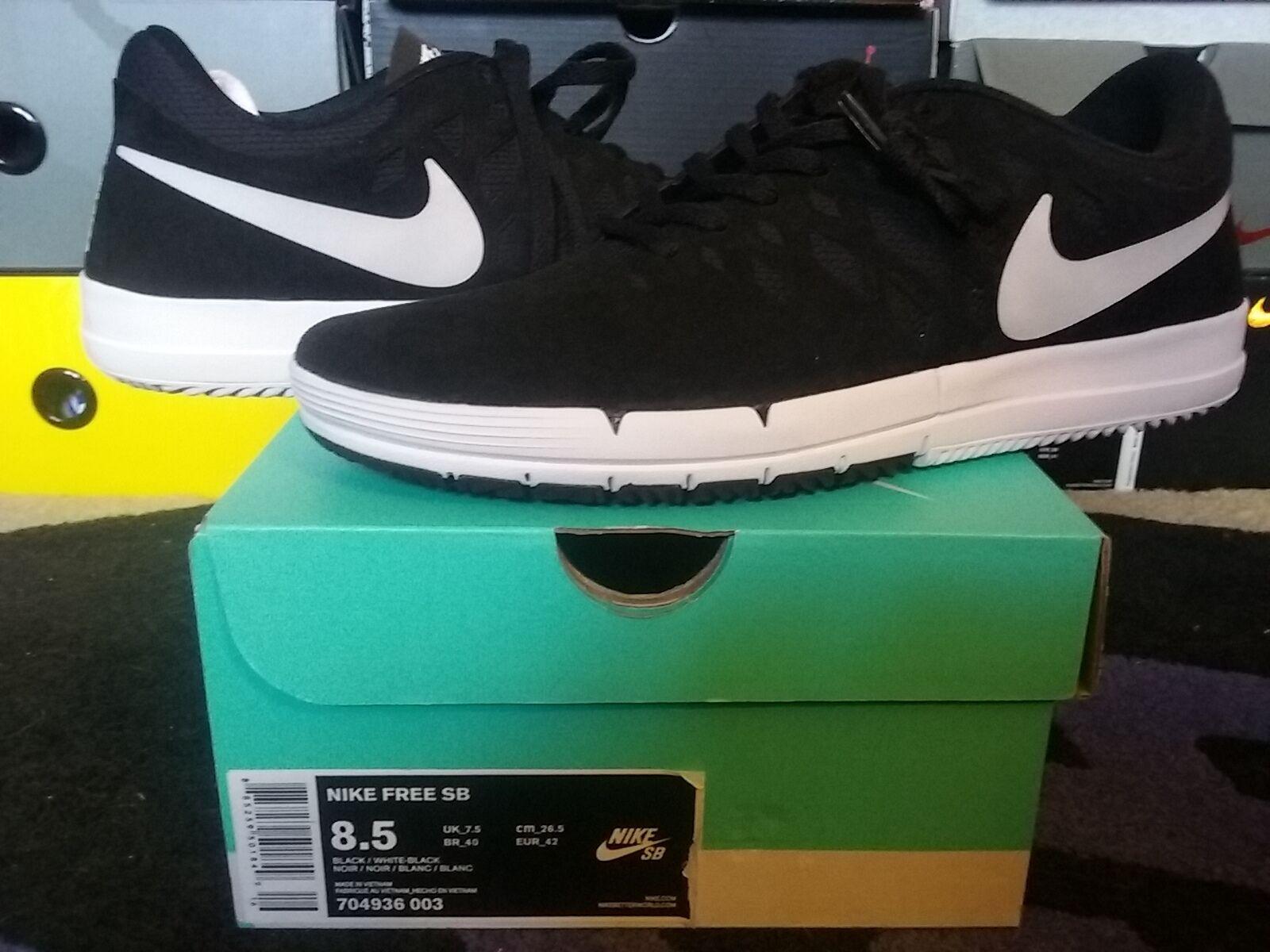 Nike Air Zoom Free SB Black White dunk low mid high pro janoski p rod 704936 003