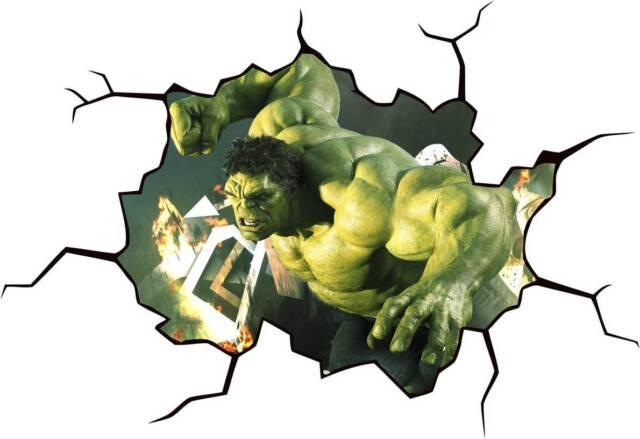 HULK CRACKED WALL Or WINDOW EFFECT Decal STICKER Decor Art Mural Avengers