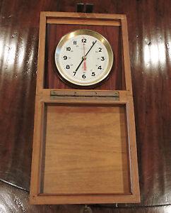 Vintage-Wempe-Chronometer-Werke-Hamburg-Marine-Clock-Ship-Quartz-Clock-2444