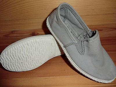Victoria Gr. 31 06817 Sommer Schuhe Stoff Halbschuhe grau gris Textil Gummizug