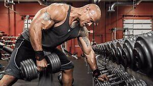 Dwayne johnson at the gym