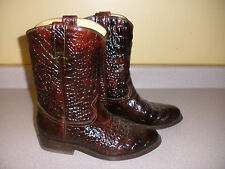 RUDEL Boots Mens Faux Alligator Skin Casual Shoes Size 7 BURGUNDY