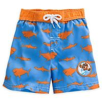 Disney Store Finding Nemo Swim Trunks For Baby Bruce Anchor Chum Print