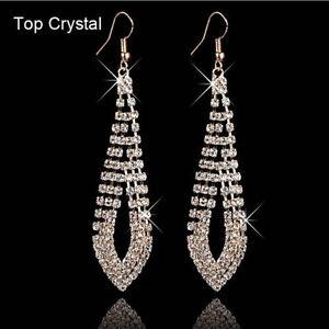 Fashion-Women-039-s-Rhinestone-Crystal-Ear-Hook-Drop-Dangle-Earrings-Jewelry-Gift