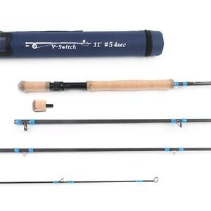 Two-handed-fly-fishing-rod-spey-and-switch-medium-fast-fly-rod-with-cordura-tube