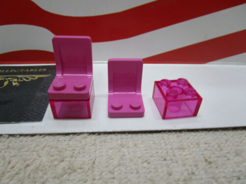 Lego Harry Potter COMPLETE PINK WITH TRANS PINK BRICK CHAIRS SET 4721 2
