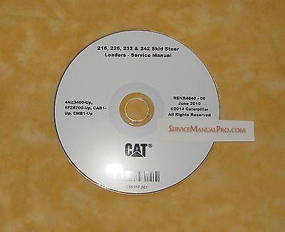 RENR4840 Caterpillar 216 226 232 242 Skid Loader Service Repair Shop Manual  | eBay