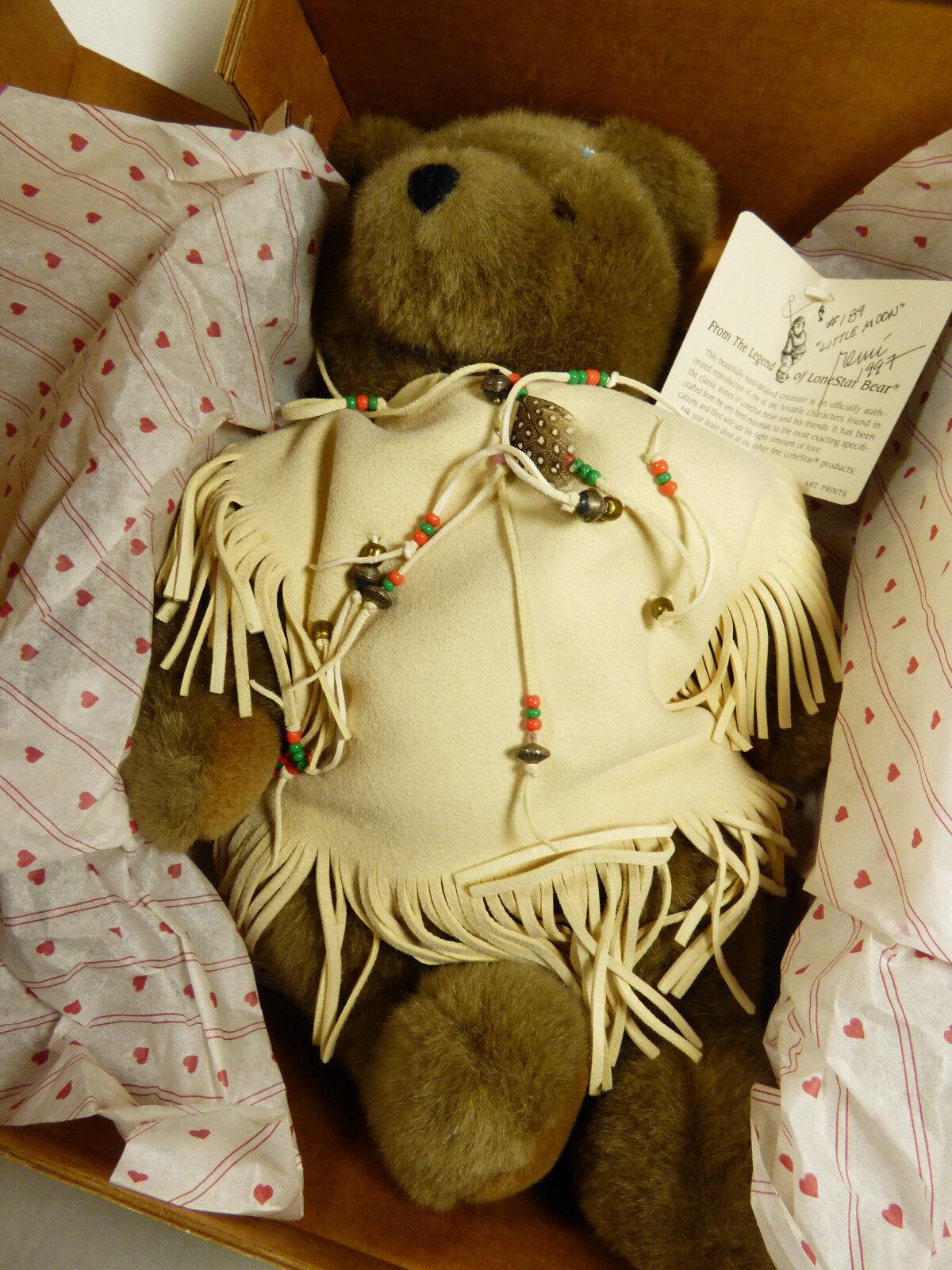 OZ Enterprise LoneStar Teddy Bear Plush Jointed 16  Little Moon Remi  189 Signed
