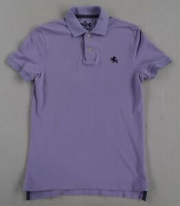Express-Men-039-s-100-Cotton-Short-Sleeve-Solid-Light-Purple-Polo-Shirt-Size-XS