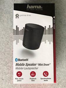 Hama Mobiler Speaker Bluetooth Akku mini Drum - neu -