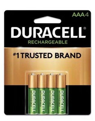 Best Rechargeable Batteries 2021 4/pack Duracell AAA Rechargeable Batteries, AAA4 1.2V NiMH EXP