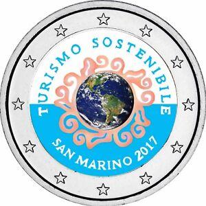 San-Marino-2-Euro-2017-Jahr-des-Tourismus-Gedenkmuenze-Stempelglanz-in-Farbe
