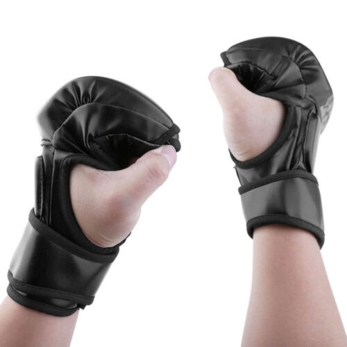 UFC MMA Boxing Gloves Grappling Punching Bag Training Kickboxing Fight Sparring