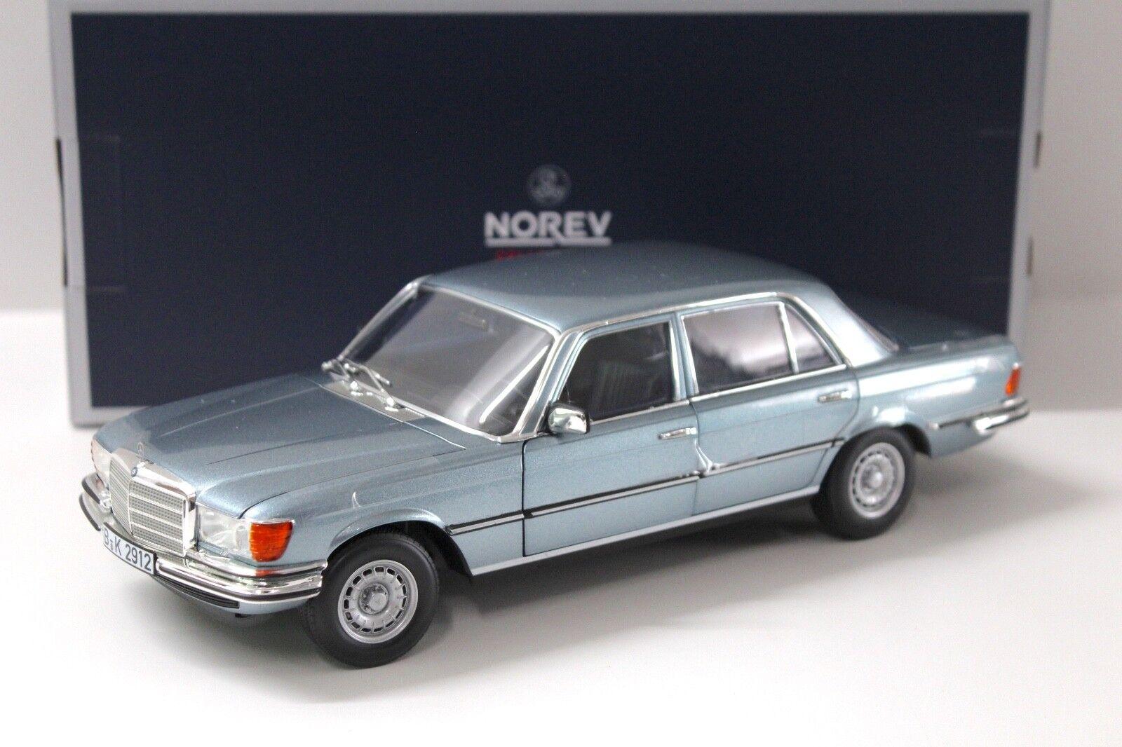 1:18 NOREV MERCEDES 450 SEL 6.9 - 1976 LIGHT BLUE NEW in Premium-MODELCARS