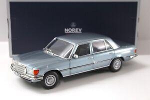 1-18-Norev-Mercedes-450-SEL-6-9-1976-light-blue-NEW-bei-PREMIUM-MODELCARS