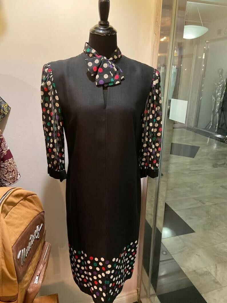Gorgeous Rare Pauline Trigere 1970s/80s Black and… - image 1