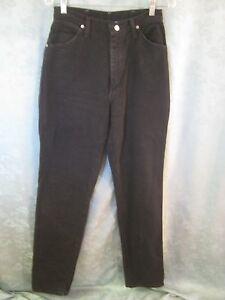 vintage wrangler size 9 10 high waist western jeans 37 inseam made in usa black ebay. Black Bedroom Furniture Sets. Home Design Ideas