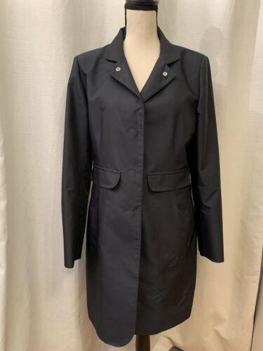 Cinzia Rocca Womens Black Long Trench Coat Overcoa