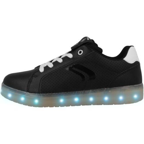 B GS Schuhe LED Low Cut Sneaker black white J745PB0BCBUC0504 GEOX J Kommodor B