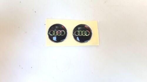 1pcs 3D 11mm Crystal Car logo Key Emblem button Sticker for Audi