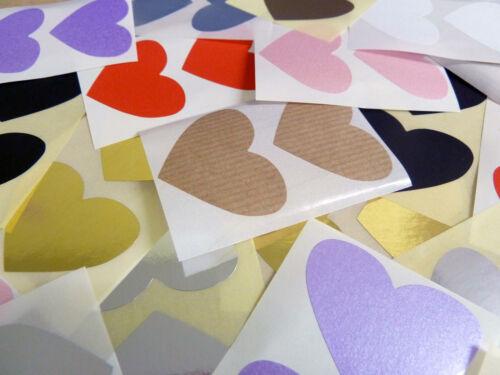50x37mm a Forma di Cuore Codice Colori Etichette Colorato Adesivo Autoadesivo