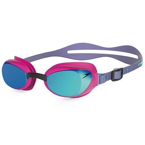 Speedo AquaPure Mirror Female Goggles Pink bluee