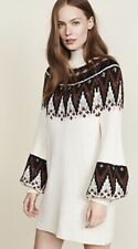 485e36900437e item 3 NWT Free People ivory black brown Fairisle Mock Turtleneck Sweater  Tunic Dress S -NWT Free People ivory black brown Fairisle Mock Turtleneck  Sweater ...