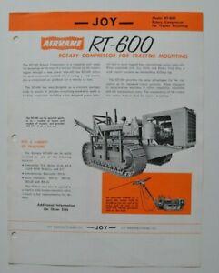 JOY-Rotary-Compressor-RT-600-1960-dealer-sheet-brochure-English-USA