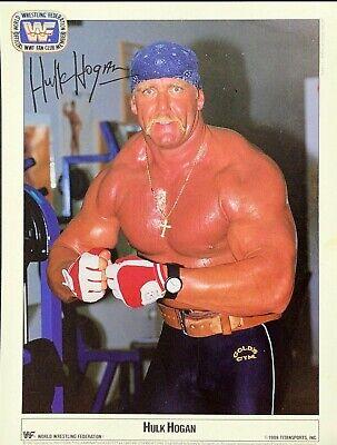 WWE HULK HOGAN 1989 OFFICIAL LICENSED 8.5X11 ORIGINAL FACSIMILE ...