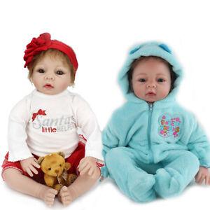 9cdbab900a6 Reborn Baby Dolls Twins Girl Boy Doll 22   Lifelike Newborn Xmas ...