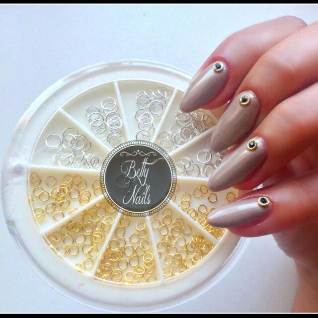 150pcs/box Metal Open Ring Circle Charms Studs 3d Nail Art ...