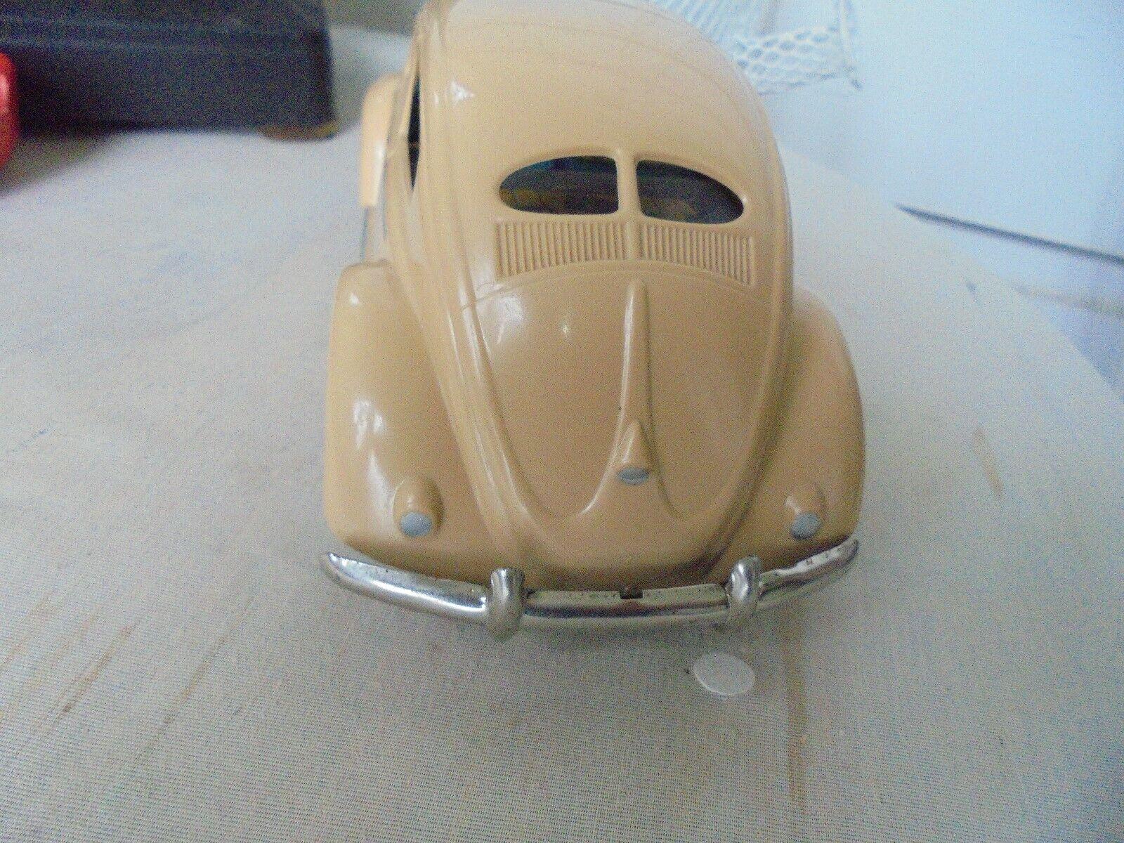 Vintage plastic 1952  ARNOLD friction  VW  split  window  beetle, germany   RARE