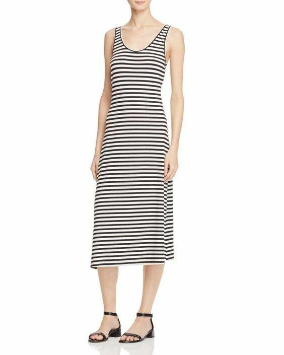 Rebecca Minkoff Vallejo Stripe midi tank dress schwarz Weiß