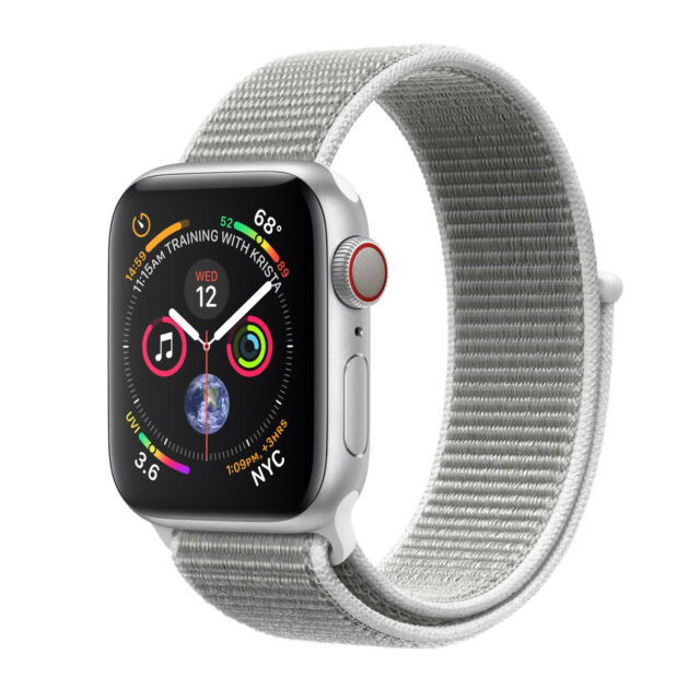 Apple Watch Series 4 44 mm Silver Aluminum Case with Seashell Sport Loop (GPS...