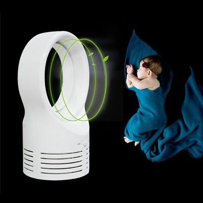 Portable Bladeless Fan Safety AirFlow Cooling Circular Mute Dedicated Leafless